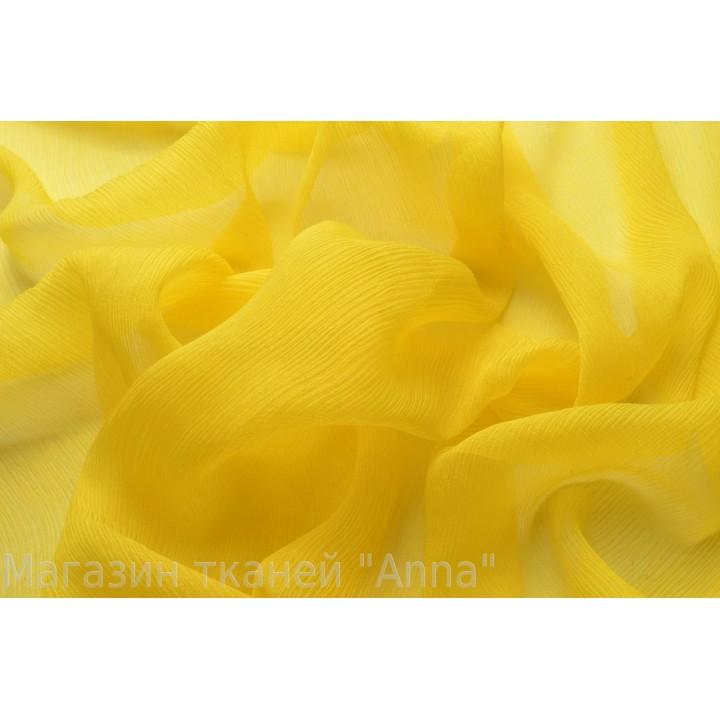 Креш шифон теплого желтого цвета