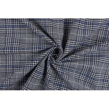Серый хлопок с голубой полоской - отличный плательный вариант