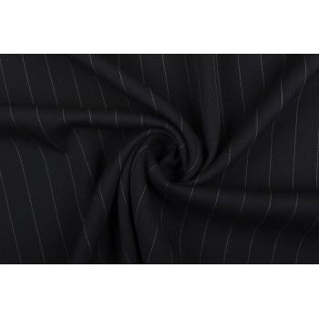 Черная фактураная ткань в широкую полоску