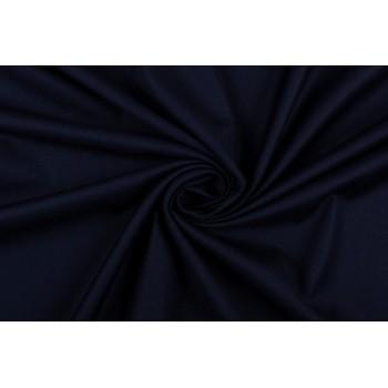 Темно-синяя костюмно-плательная ткань на основе вискозы
