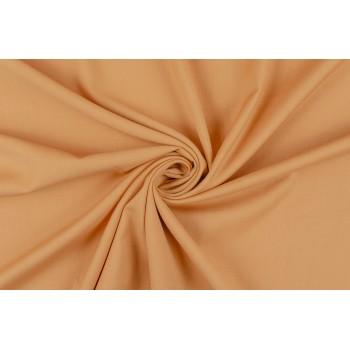 Светло-оранжевая костюмно-плательная ткань на основе вискозы