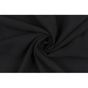"""Черный креп - плотная """"тяжелая"""" ткань для платья"""
