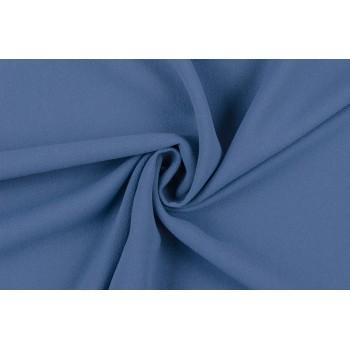 Плательная ткань креп, насыщенного синего цвета