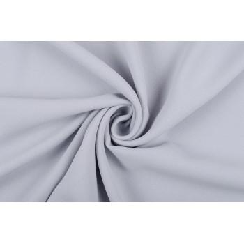 Креповая ткань для платья в красивом серо-голубом оттенке