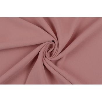 Теплый розовый оттенок - креп на основе п/э для платьев и юбок