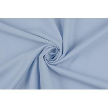Нежно-голубая плательная ткань в диагональный рубчик