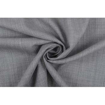 Серая шерсть-стрейч для офисного платья или женского костюма