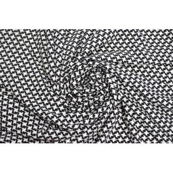 Черно-белая гусиная лапка, ткань из синтетических волокон для платья