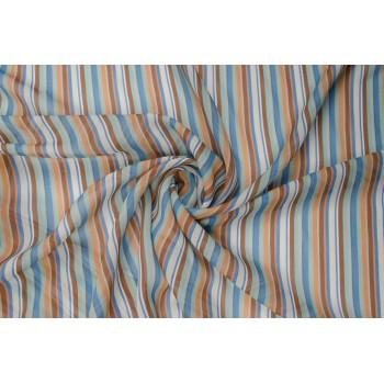 Легкая полосатая ткань голубых и коричневых тонов
