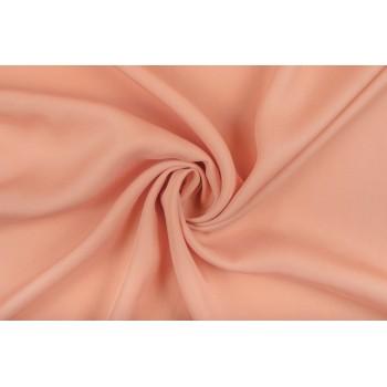 Гладкий плотный штапель насыщенного персикового цвета