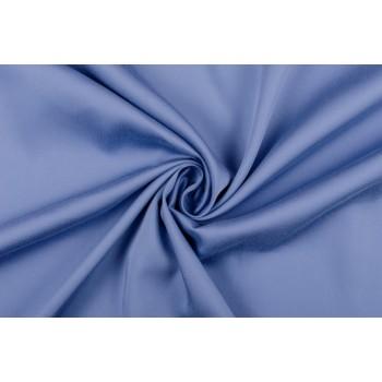 Гладкий синий штапель с добавлением в состав тенселя