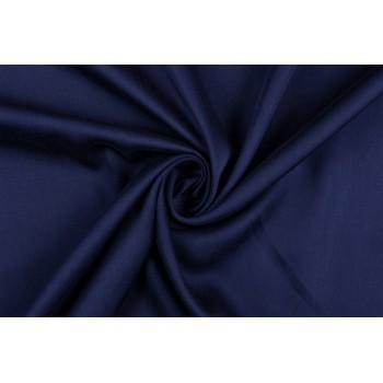 Темно-синий штапель для одежды - гладкая и плотная ткань