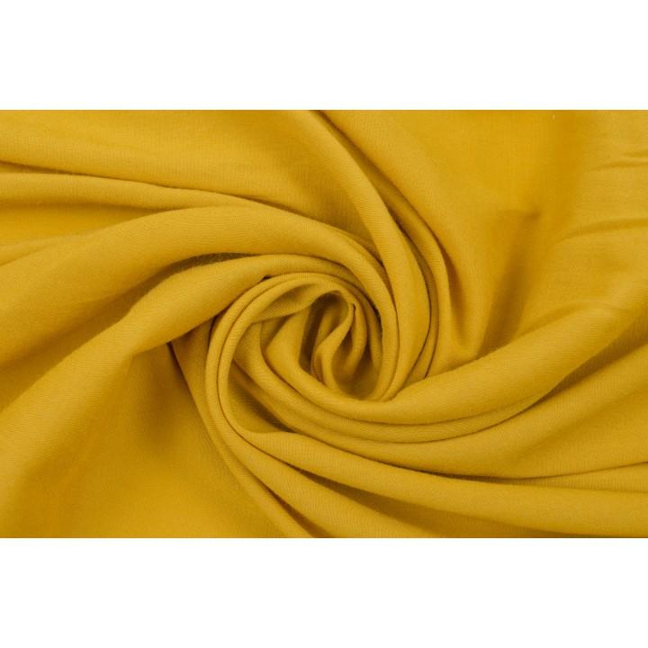 Мягкий штапель насыщенного горчичного цвета
