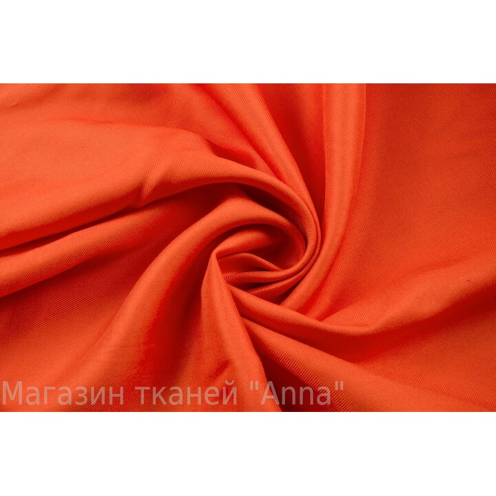 Ярко-оранжевый плательный штапель