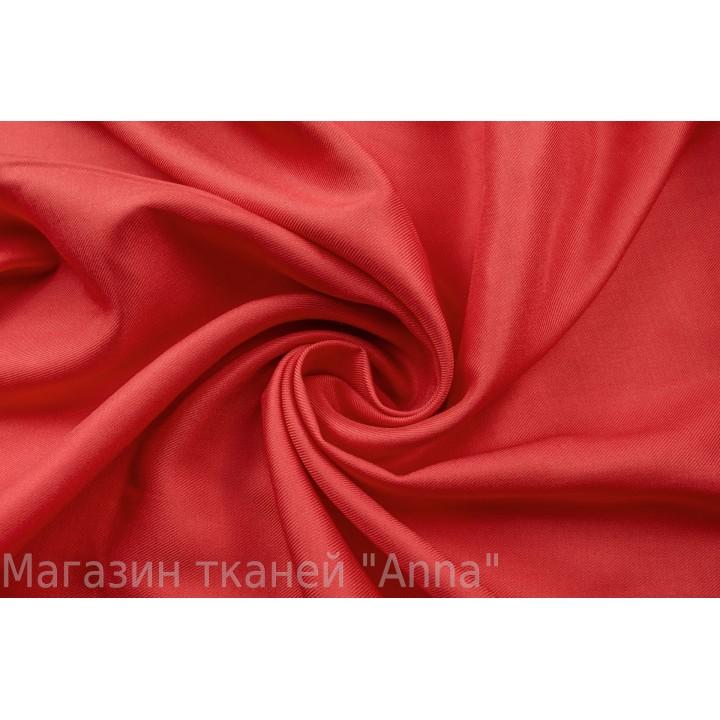 Ярко-красный штапель из вискозы