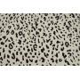 Черно белый монохромный леопардовый принт на штапеле из вискозы