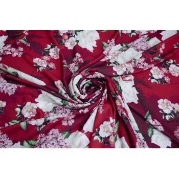 Штапель с красными и белыми Розами в стиле D&G