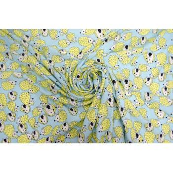 Ежики на ткани - мягкий летний штапель