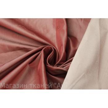 Темно-красная шелковая тафта