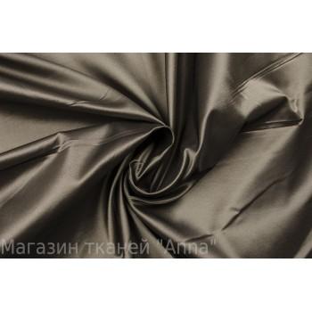 Темно-серая шелковая тафта