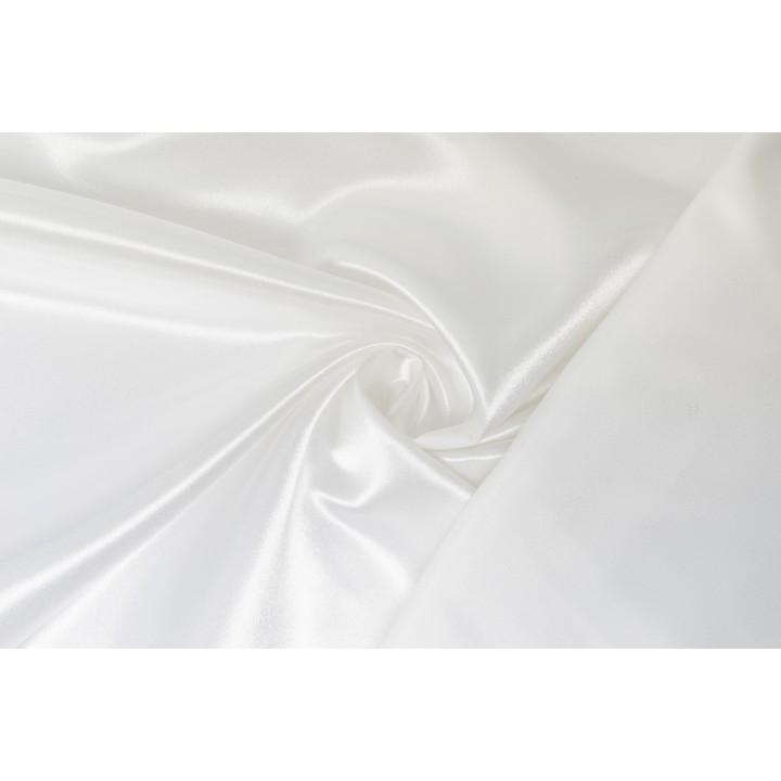 Плотная белая тафта с блеском