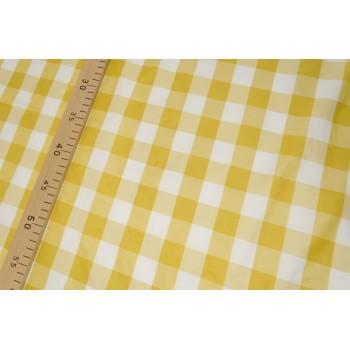 Ткань тафта в клетку желтого цвета
