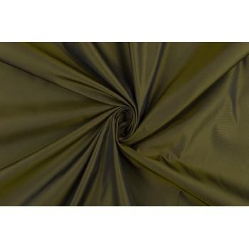 Тонкая тафта темного оливкового цвета с матовым блеском