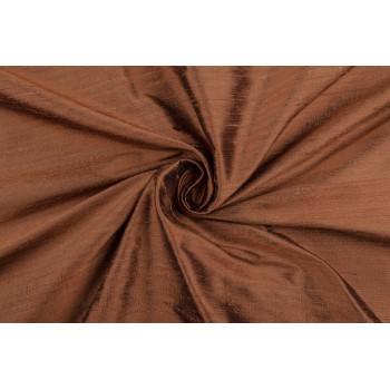 Красивая тафта кирпичного цвета из дикого шелка