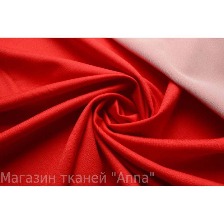 плотный вискозный трикотаж красного цвета