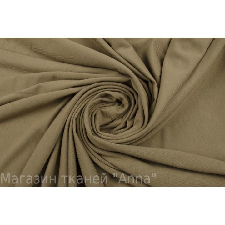 Бежево-коричневый трикотаж из вискозы