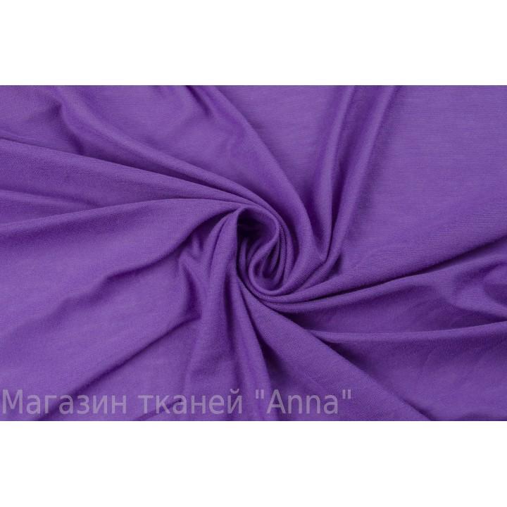Тонкое трикотажное полотно фиолетового цвета