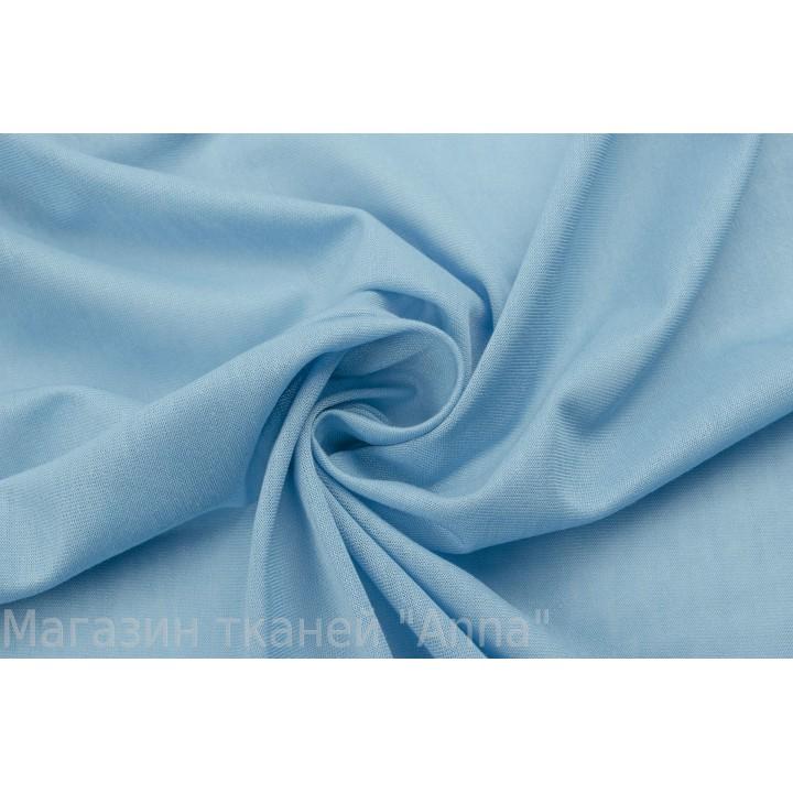 Голубой тонкий трикотаж из вискозы