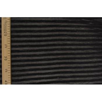 Тонкий полосатый трикотаж черного цвета