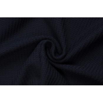 Темно-синий вязаный трикотаж
