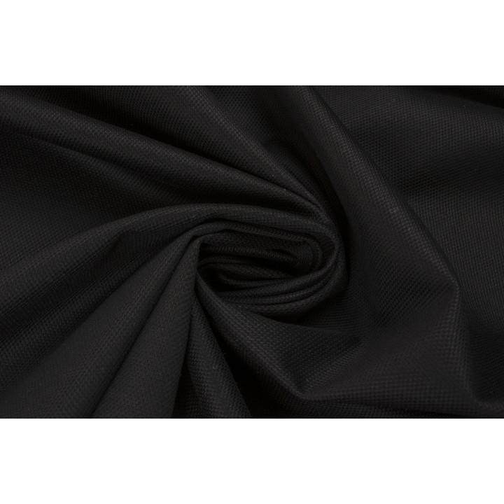 Черный хлопковый трикотаж рельефной поверхности