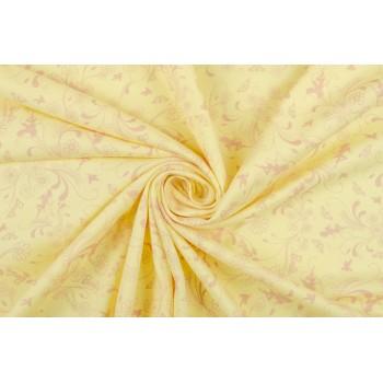 Тонкий желтый трикотаж с легким узором