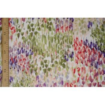 Тонкий плательный трикотаж с узором полевые цветы