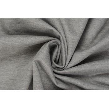 Серый меланж - трикотажный джерси для одежды