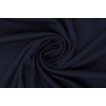 Джерси на основе п/э насыщенного темно синего оттенка