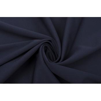 Темно-синий матовый трикотаж - синтетика