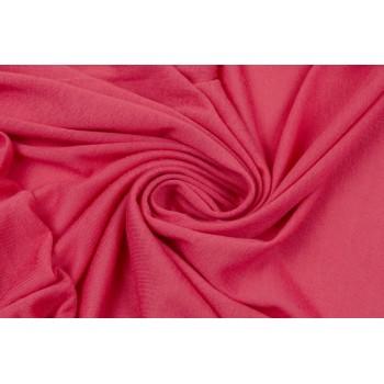 Насыщенный розовый - вискозное трикотажное полотно