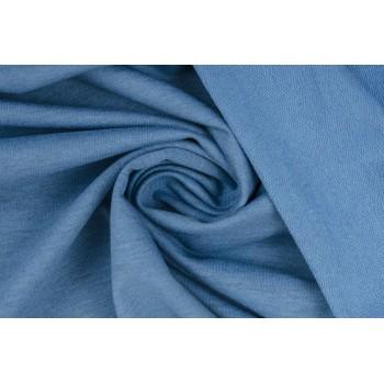 Голубой хлопковый трикотаж двунитка