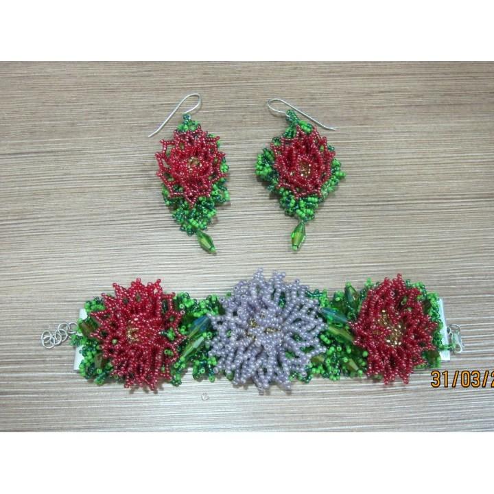 Набор Астры выполнен из Японского бисера Matsumo