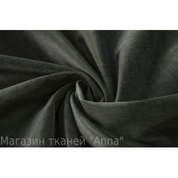 Вельвет-стрейч темного графитового цвета