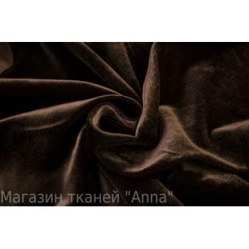 Темно-коричневый велюр из вискозы