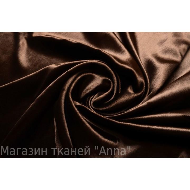 Велюр однотонный шоколадного цвета