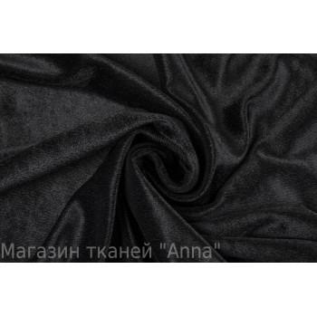 Велюр синтетический черного цвета